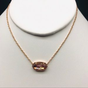 KS Elisa Dichroic glass rose gold necklace